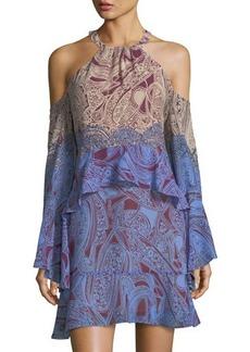 BCBGMAXAZRIA Ombre Cold-Shoulder Dress
