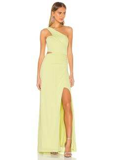 BCBG Max Azria BCBGMAXAZRIA One Shoulder Cut Out Gown