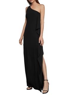 BCBG Max Azria BCBGMAXAZRIA One-Shoulder Drape Gown