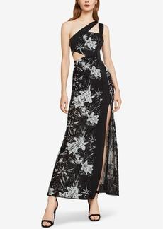 BCBG Max Azria Bcbgmaxazria One-Shoulder Floral Lace Gown