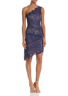 BCBG Max Azria BCBGMAXAZRIA One-Shoulder Lace Dress