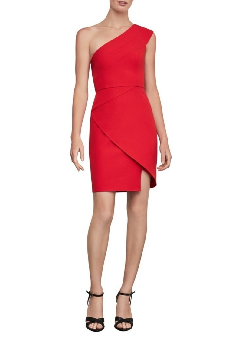 BCBG Max Azria BCBGMAXAZRIA One-Shoulder Mini Cocktail Dress