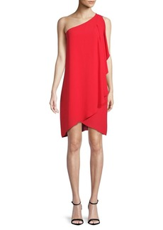 BCBG Max Azria One-Shoulder Ruffle Dress