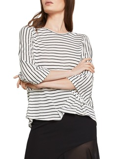 BCBG Max Azria BCBGMAXAZRIA Open-Back Striped Top