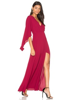 BCBGMAXAZRIA Open Sleeve Gown