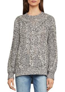 BCBG Max Azria BCBGMAXAZRIA Open-Stitch Cable-Knit Sweater
