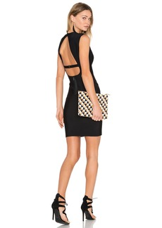 BCBGMAXAZRIA Oralie Open Back Dress