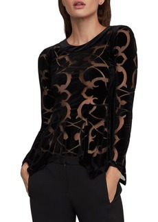 BCBG Max Azria BCBGMAXAZRIA Ornate Burnout Velvet Top