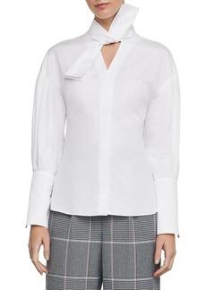 BCBG Max Azria BCBGMAXAZRIA Oversized Bow Cotton Shirt
