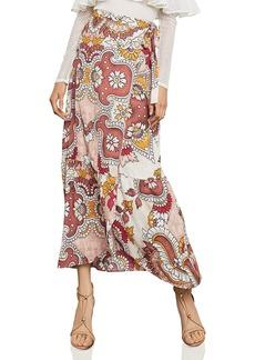 BCBG Max Azria BCBGMAXAZRIA Paisley Print Maxi Wrap Skirt