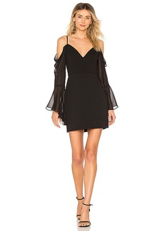 BCBG Max Azria BCBGMAXAZRIA Pamella Cold Shoulder Dress In Black