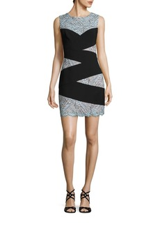 BCBG Max Azria BCBGMAXAZRIA Paneled Lace Sheath Dress