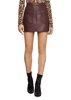 BCBG Max Azria BCBGMAXAZRIA Patch Pocket Faux Leather Skirt