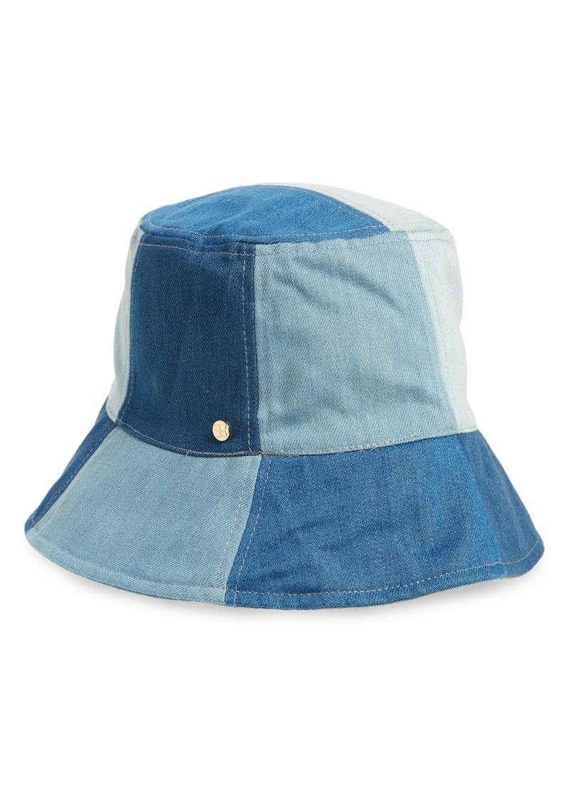 cd9aad1bb91af BCBG Max Azria BCBGMAXAZRIA Patchwork Denim Bucket Hat