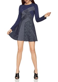 BCBGMAXAZRIA Patchwork Dress