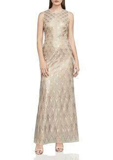 BCBGMAXAZRIA Patti Sequined Tulle Gown