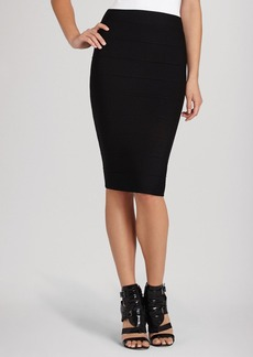BCBGMAXAZRIA Pencil Skirt - Leger Knit