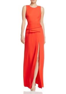BCBGMAXAZRIA Peplum Cutout-Back Gown