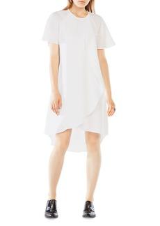 BCBGMAXAZRIA Perri Draped Ruffle Dress