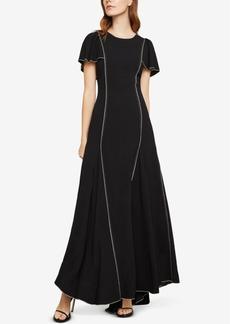 BCBG Max Azria Bcbgmaxazria Piped Cape-Sleeve Gown