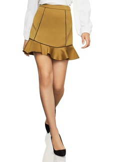 BCBG Max Azria BCBGMAXAZRIA Piped Satin Mini Skirt