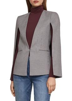 BCBG Max Azria BCBGMAXAZRIA Plaid Cape-Sleeve Jacket