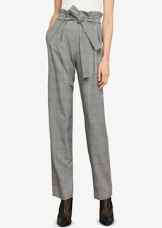 BCBG Max Azria Bcbgmaxazria Plaid Paper Bag Pants