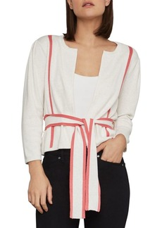 BCBG Max Azria BCBGMAXAZRIA Pleated Belted Cotton Cardigan