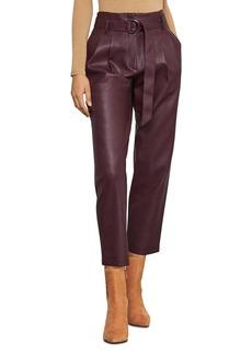 BCBG Max Azria BCBGMAXAZRIA Pleated Faux Leather Pants
