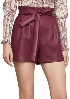 BCBG Max Azria BCBGMAXAZRIA Pleated Faux Leather Shorts