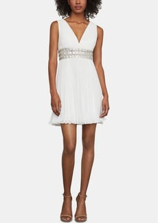BCBG Max Azria Bcbgmaxazria Pleated Fit & Flare Dress