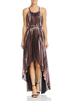 Bcbgmaxazria Pleated Halter Dress