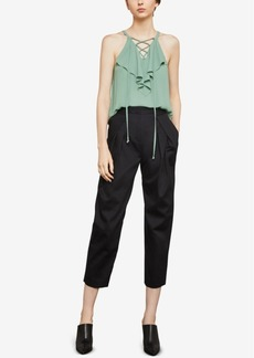 BCBG Max Azria Bcbgmaxazria Pleated High-Rise Ankle Pants