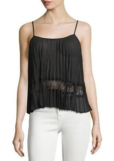 BCBGeneration Pleated Lace-Inset Camisole
