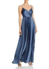 BCBG Max Azria BCBGMAXAZRIA Pleated Satin Gown - 100% Exclusive