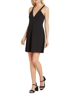 BCBGMAXAZRIA Plunging V-Neck Fit and Flare Dress