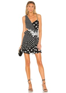 BCBG Max Azria BCBGMAXAZRIA Polka Dot Cut Out Dress