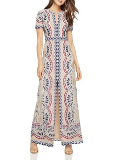 BCBGMAXAZRIA Print Burn-Out Maxi Dress