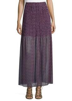 BCBGeneration Printed Chiffon Maxi Skirt