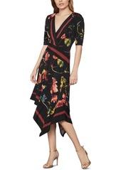 BCBG Max Azria Bcbgmaxazria Printed Faux-Wrap Dress