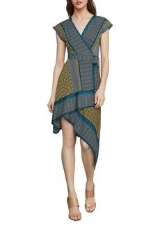 BCBG Max Azria BCBGMAXAZRIA Printed Faux Wrap Dress