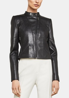 BCBG Max Azria Bcbgmaxazria Quilted Faux-Leather Moto Jacket