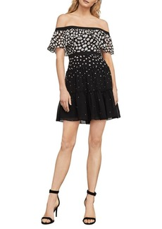 BCBGMAXAZRIA Rayne Off-the-Shoulder Dress