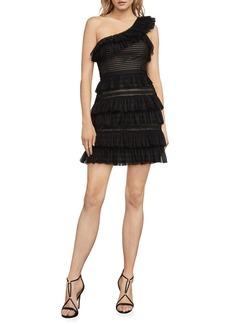BCBG Max Azria BCBGMAXAZRIA Rena One-Shoulder Lace Dress