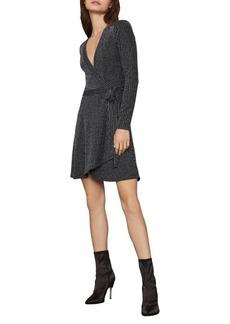 BCBG Max Azria BCBGMAXAZRIA Rib-Knit Mini Wrap Dress