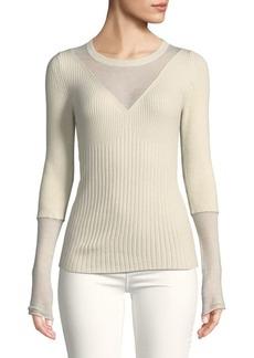 BCBG Max Azria Ribbed Roundneck Sweater