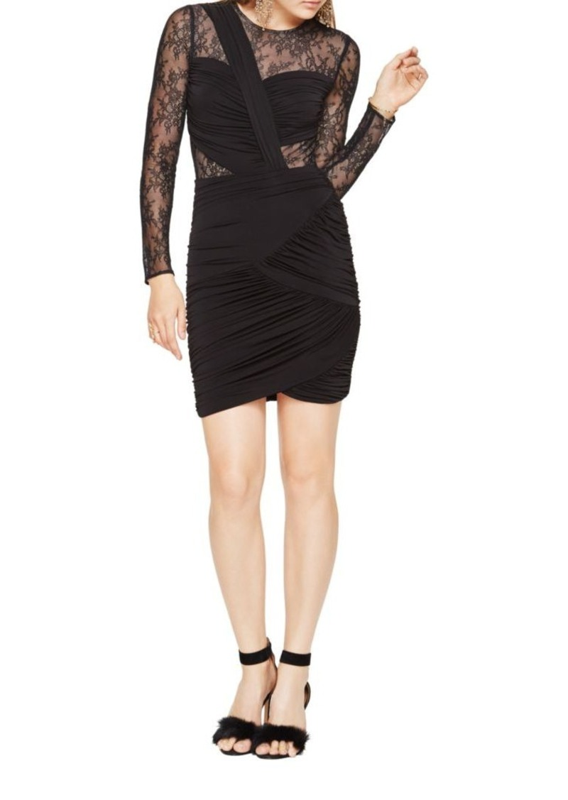 1dce060058 BCBG Max Azria BCBGMAXAZRIA Richelle Long-Sleeve Lace Dress