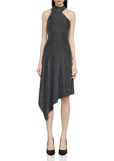 BCBGMAXAZRIA Rivas Metallic Asymmetric Dress