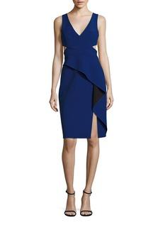 BCBG Max Azria BCBGMAXAZRIA Riya Cutout Peplum Dress
