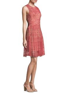 BCBG Max Azria BCBGMAXAZRIA Roundneck Lace Dress